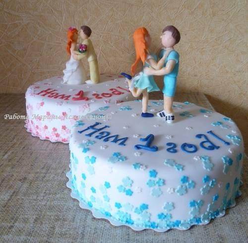 На ситцевую свадьбу свадебные торты