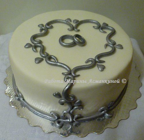 Свадебные торты на серебряную свадьбу