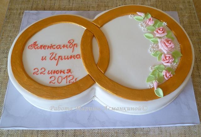 Свадебные кольца на торт своими руками 77