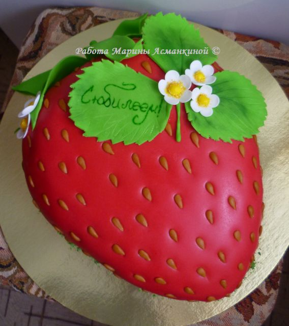 Фото торт клюбника